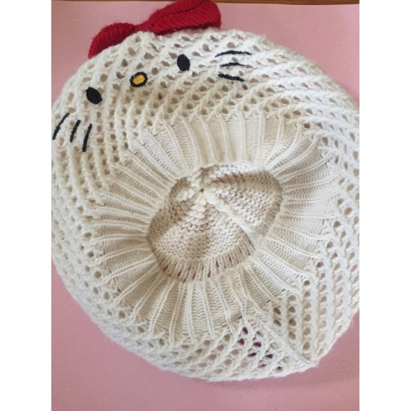 Hello Kitty Accessories Crochet Beret Hat Poshmark